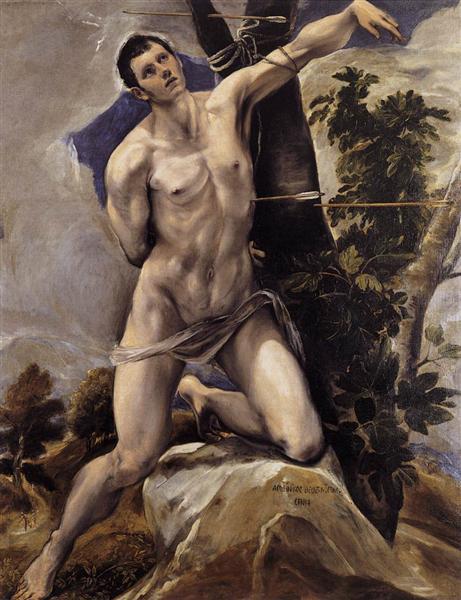 Das Martyrium des heiligen Sebastian, c.1577 - El Greco