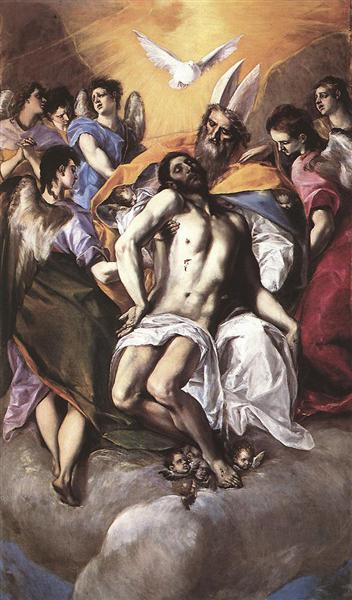 The Holy Trinity, 1577 - El Greco