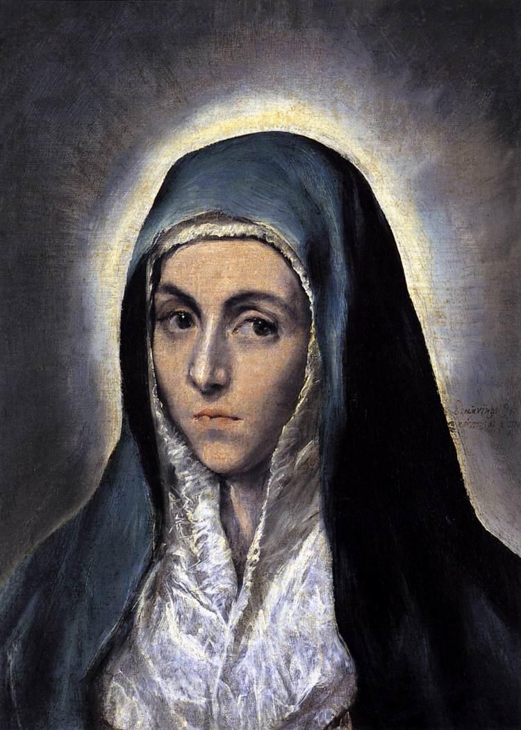 """Képtalálat a következőre: """"El Greco Virgin Mary 1585"""""""