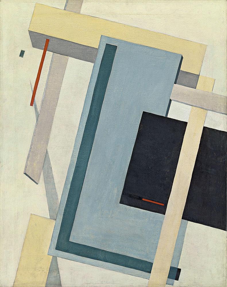Proun 4 B, c.1920 - El Lissitzky - WikiArt.org