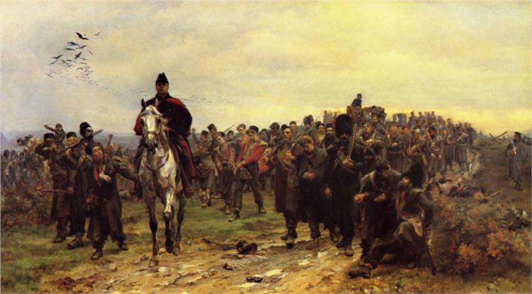 The Return From Inkerman, 1877 - Elizabeth Thompson