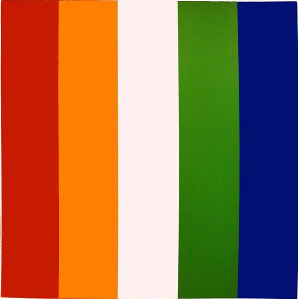 Red Orange White Green Blue, 1968 - Ellsworth Kelly
