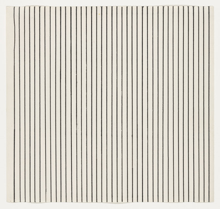 Vertical Lines from the series Line Form Color, 1951 - Ellsworth Kelly