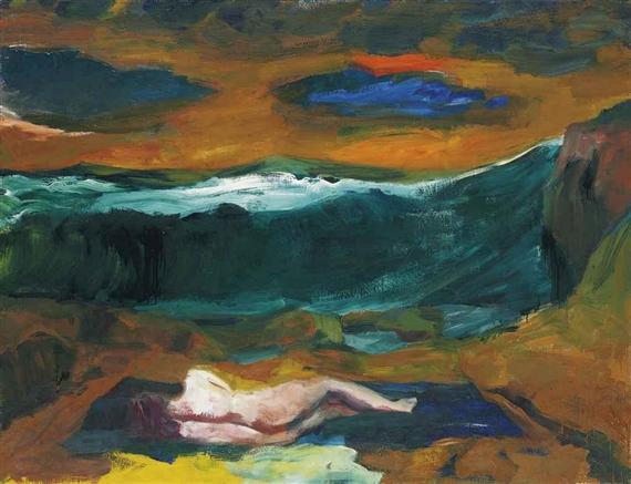 Blue Clouds, 1963 - Elmer Bischoff