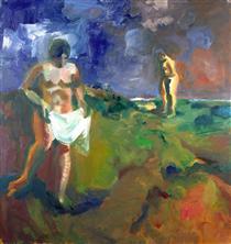 Two Bathers - Элмер Бишофф