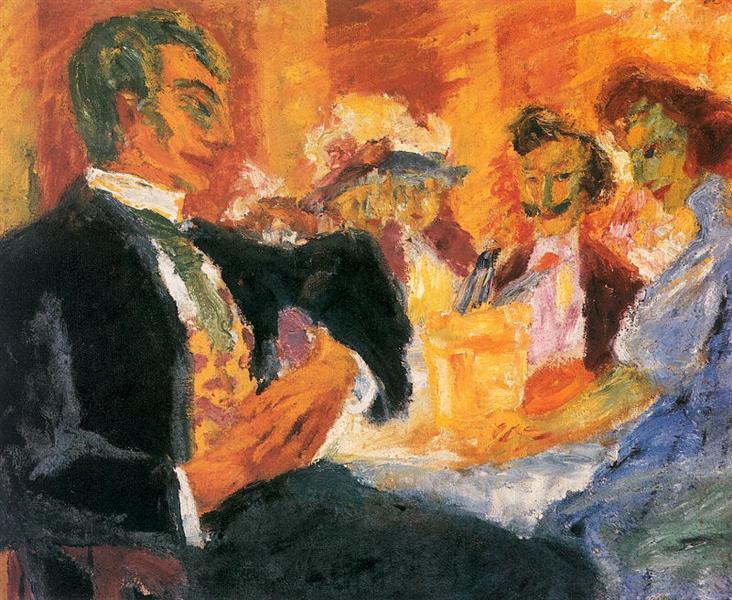At the Café, 1911 - Emil Nolde