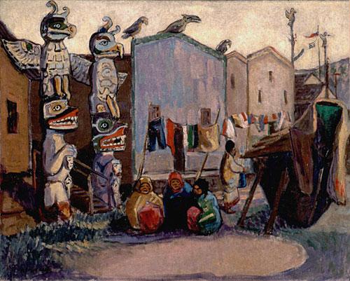 Indian Village, Alert Bay, 1912 - Emily Carr
