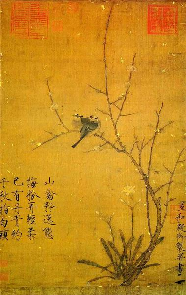 Plum and birds - Song Huizong