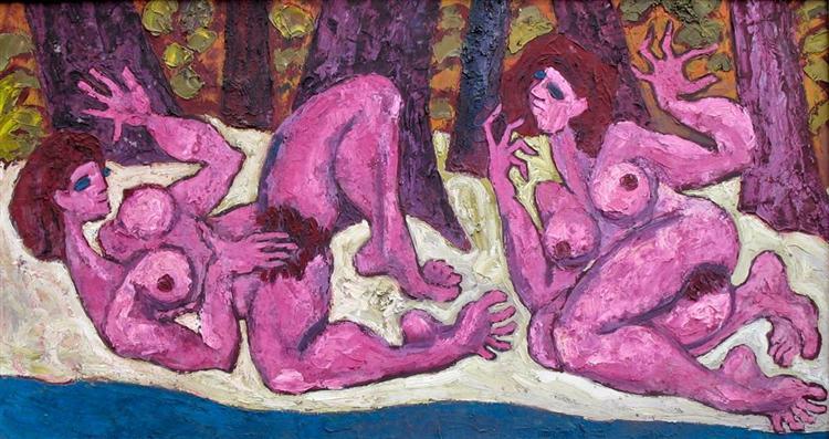 Lesbian love, 1980 - Endre Bartos