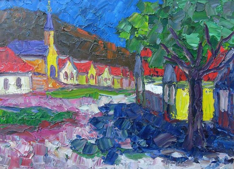 Transdanubian village, 1981 - Endre Bartos