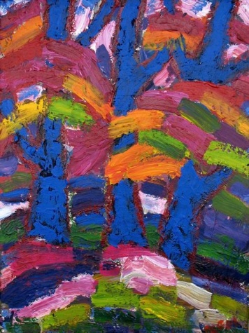 Trees in blue, 2005 - Endre Bartos