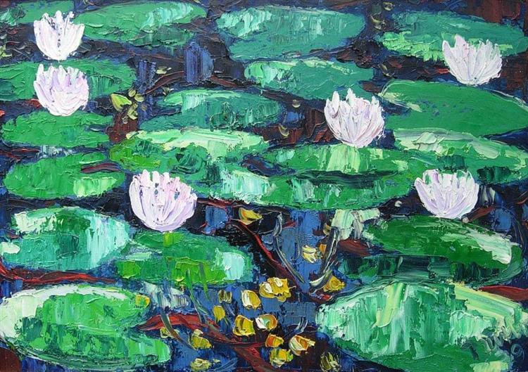 Water-Lilies, 1979 - Endre Bartos