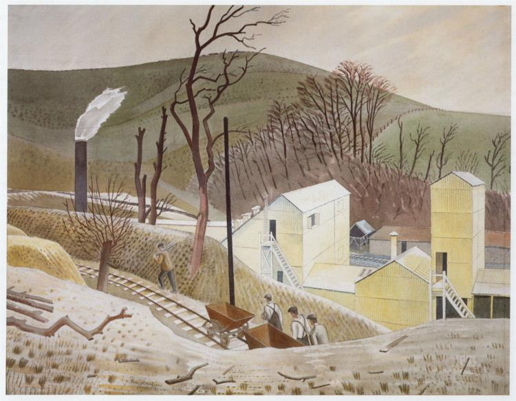 CEMENT WORKS No.2, c.1934 - Eric Ravilious