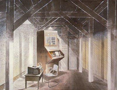 The Teleprinter Room, 1941 - Eric Ravilious