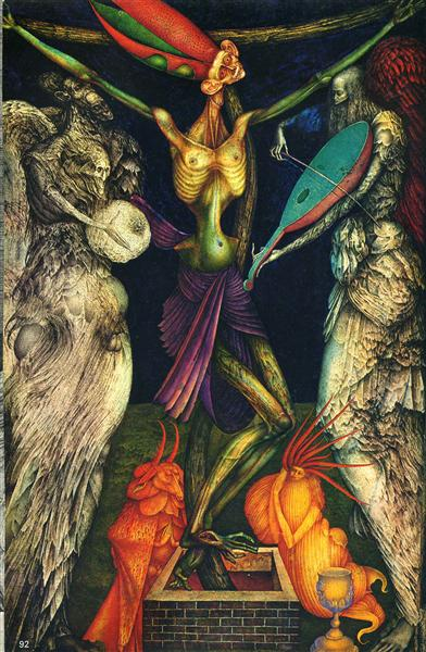 Crucification, 1950 - Ernst Fuchs