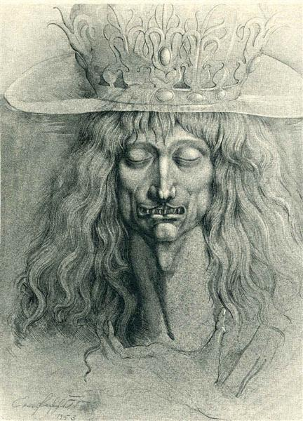 Head of a man, 1953 - Ernst Fuchs