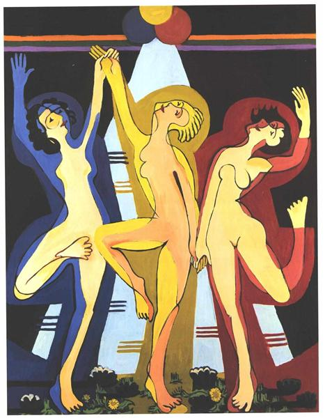 Colourful Dance - Ernst Ludwig Kirchner
