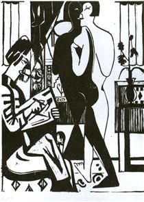 Painter and Modell - Ernst Ludwig Kirchner
