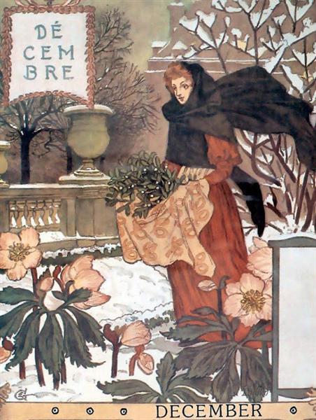 La Belle Jardiniere – December, 1896 - Eugène Grasset