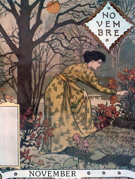 La Belle Jardiniere – November, 1896 - Eugène Grasset