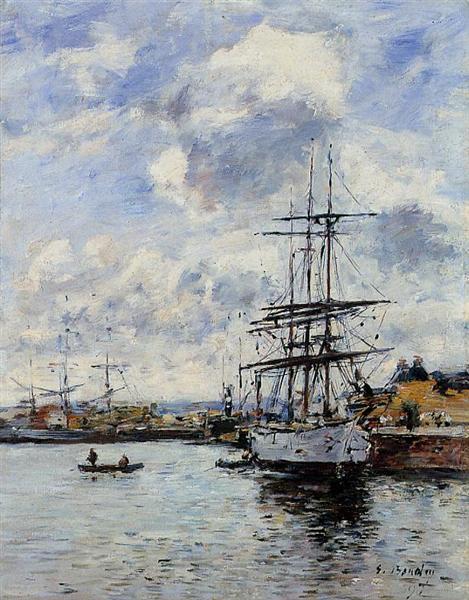 Deauville, the Harbor, 1897 - Eugène Boudin