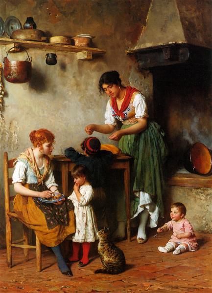 A Helping Hand, 1884 - Eugene de Blaas