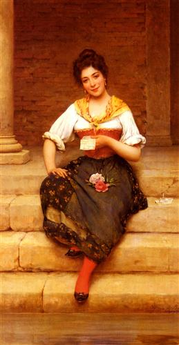 The Love Letter - Eugene de Blaas