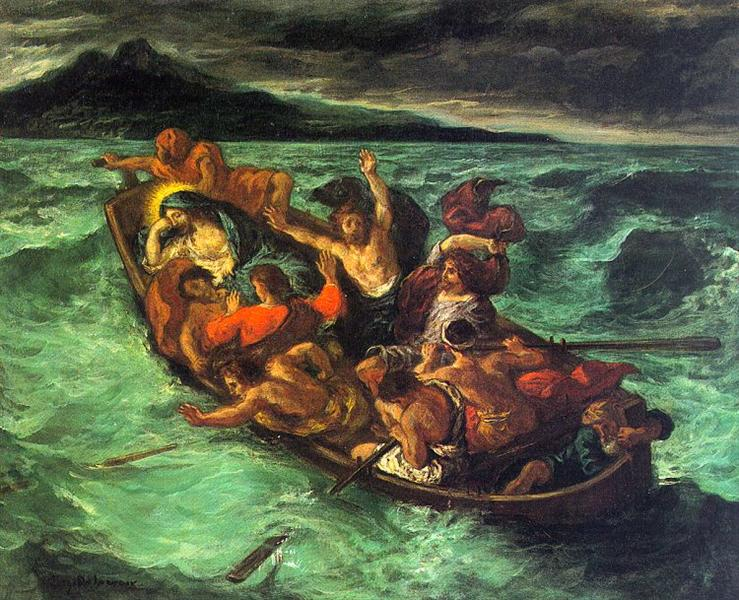 Christ on the Lake of Gennezaret, 1854 - Eugene Delacroix