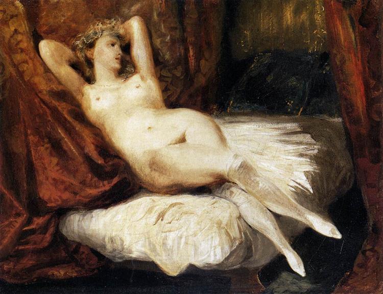 Female Nude Reclining on a Divan, 1825 - 1826 - Eugene Delacroix