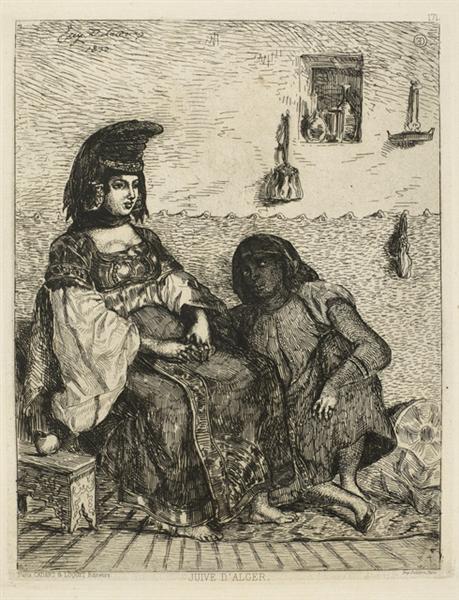 Jewish Woman of Algiers, 1833 - Eugene Delacroix