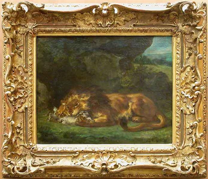 Lion Devouring a Rabbit, 1856 - Eugene Delacroix