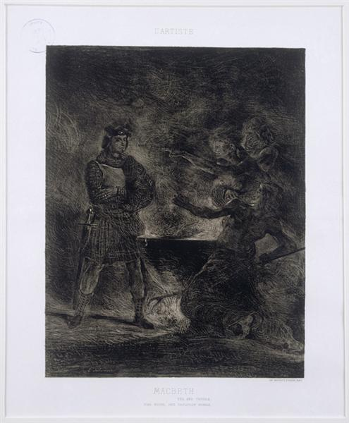 Macbeth and the Witches, 1825 - Eugene Delacroix