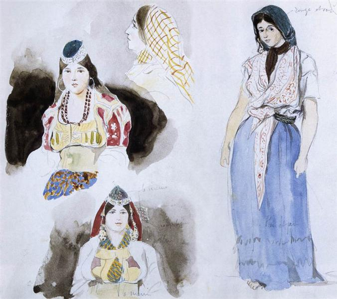 Moroccan Women, 1832 - Eugene Delacroix