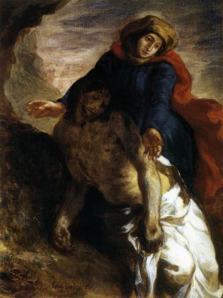 Pietà, 1850 - Eugene Delacroix