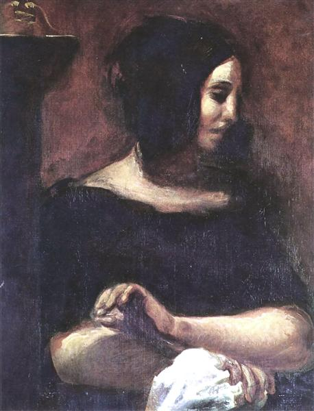 Portrait of George Sand, 1838 - Eugene Delacroix