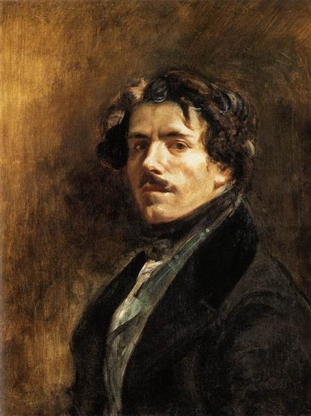 Self Portrait, c.1837 - Eugène Delacroix