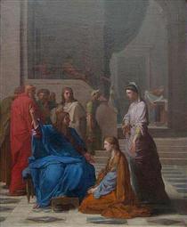 Jésus chez Marthe et Marie - Eustache Le Sueur