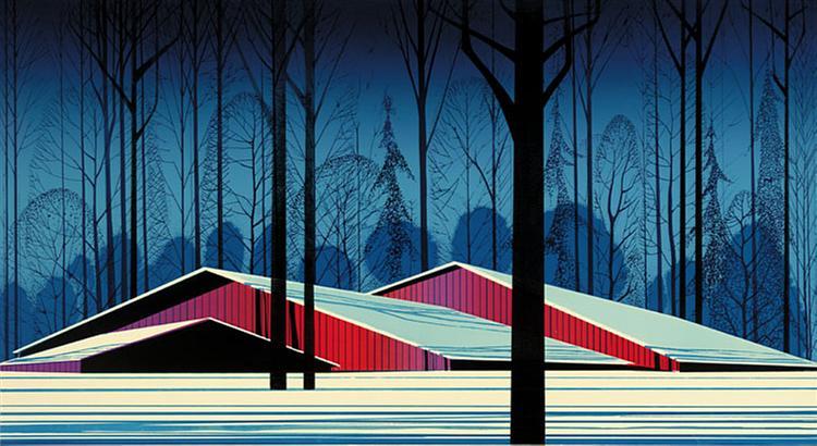 Winter Barns, 1982 - Eyvind Earle