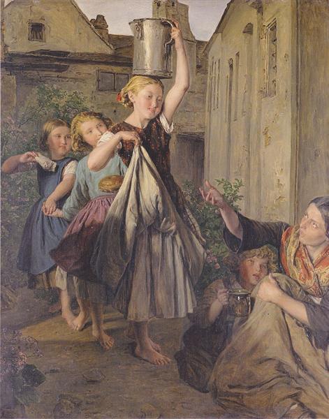 Charity, 1863 - Ferdinand Georg Waldmüller