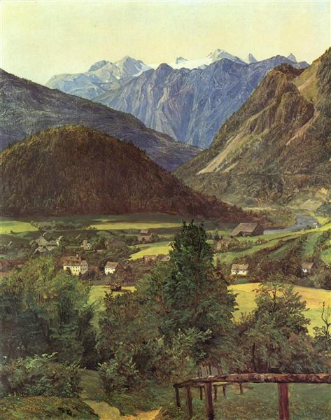 Dachstein from the place of Sophie, 1835 - Ferdinand Georg Waldmüller