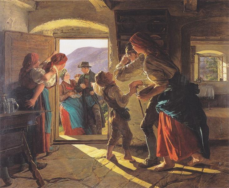 Entrance of the Newlyweds, 1859 - Ferdinand Georg Waldmüller