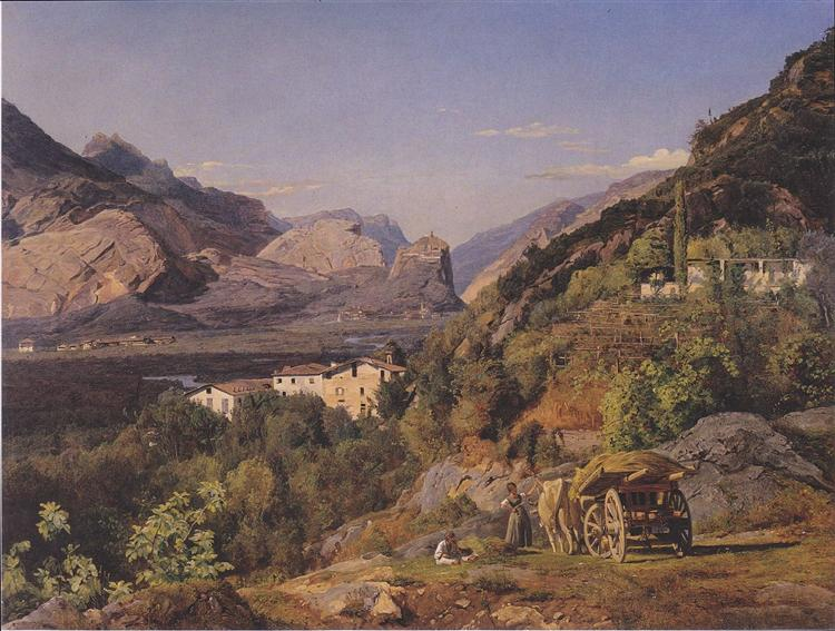Mountains of Arco at Riva, 1841 - Ferdinand Georg Waldmüller
