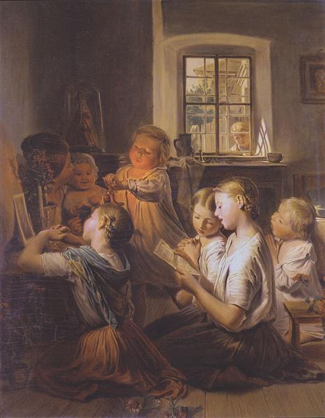 Singing children, 1858 - Ferdinand Georg Waldmüller