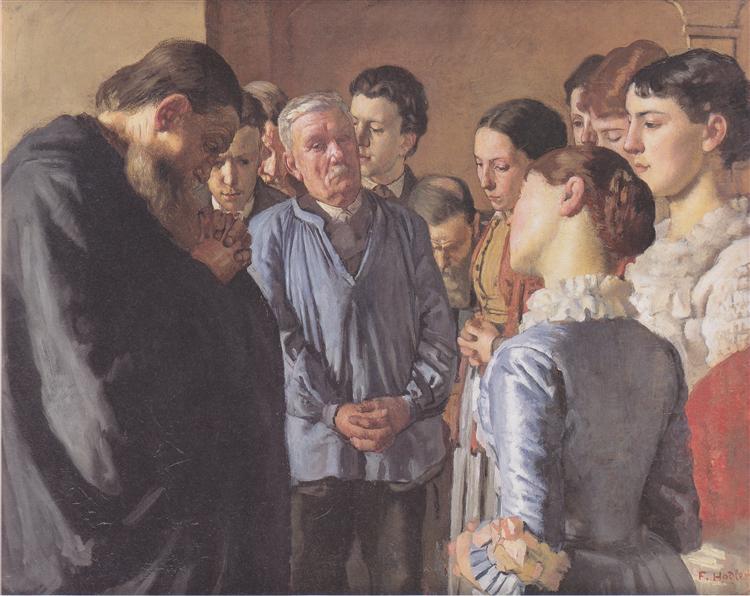 Devotion, 1882 - Ferdinand Hodler