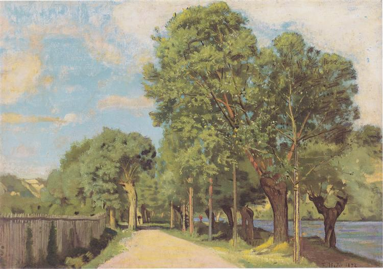 Landscape at the Jonction at Geneva, 1878 - Ferdinand Hodler