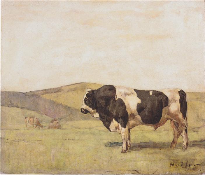 The bull, 1878 - Ferdinand Hodler