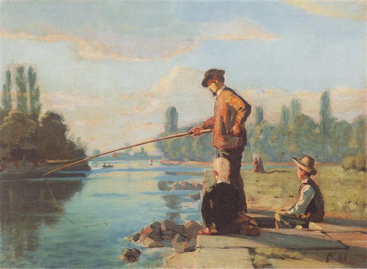 The fisherman, c.1879 - Ferdinand Hodler