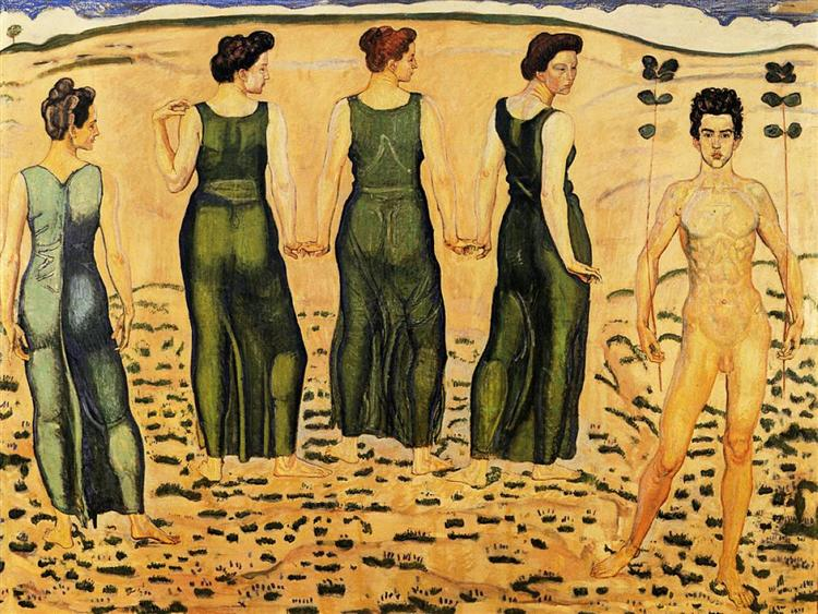 Youth Admired by Women - Ferdinand Hodler