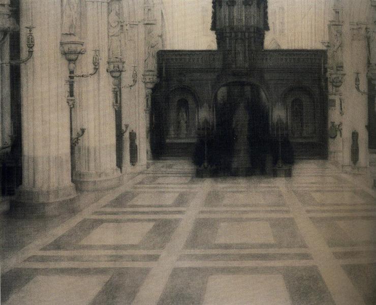 In Bruges. A Church, 1904 - Фернан Кнопф