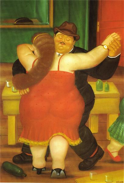 Couple Dancing, 1982 - Fernando Botero